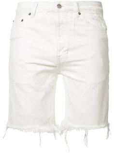 джинсовые шорты с необработанными краями Ksubi
