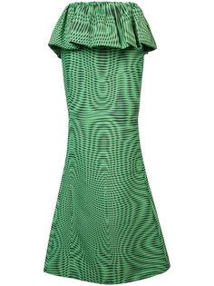Moire peplum maxi shirt Mary Katrantzou