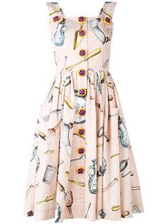 платье-сарафан с рисунком Dolce & Gabbana