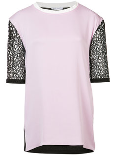 contrast sleeve blouse  Vionnet