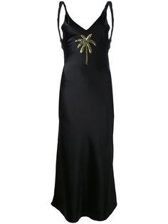 атласное длинное платье Caroline Attico