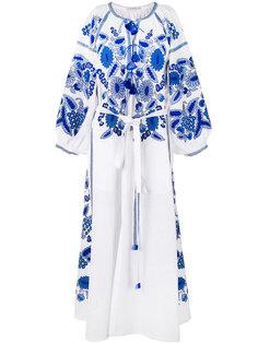 длинное платье с вышивкой и кисточками Vita Kin