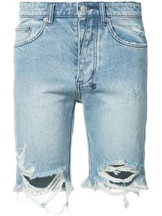 джинсовые шорты с эффектом поношенности Ksubi