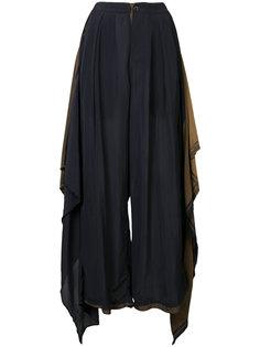 многослойные брюки-палаццо Uma Wang