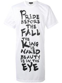 полупрозрачная футболка с графическим принтом Comme Des Garçons Homme Plus