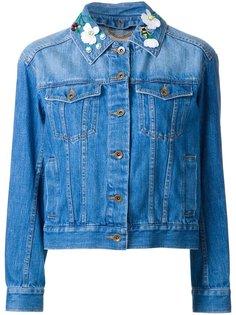 джинсовая куртка с декорированным воротником Muveil