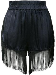 fringed shorts Ganni