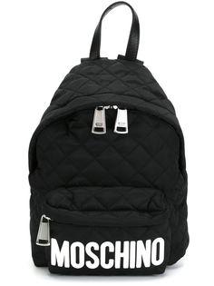 стеганый рюкзак с логотипом Moschino