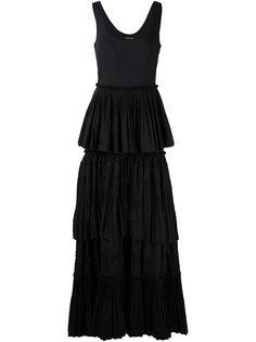 длинное платье с оборками Alberta Ferretti