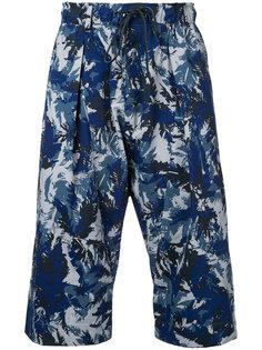 printed cropped trousers Kazuyuki Kumagai