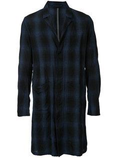 checked midi shirt coat Kazuyuki Kumagai