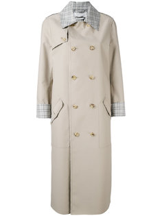 checked trim trench coat  Gabriela Hearst