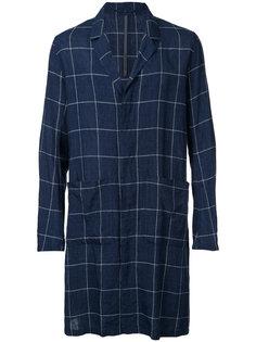checked single breasted coat Kazuyuki Kumagai