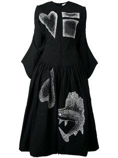 платье с нашивками J.W.Anderson