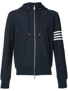 striped arm zipped hoodie Eleventy