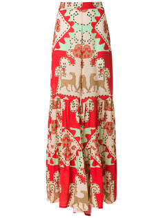 printed wide trousers Adriana Degreas