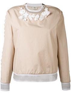 блузка с цветочной аппликацией Fendi