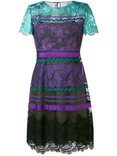 платье с комбинированным принтом Alberta Ferretti