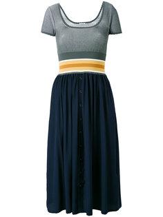 платье с эластичным поясом Tomas Maier