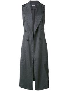 приталенное пальто без рукавов Alberto Biani