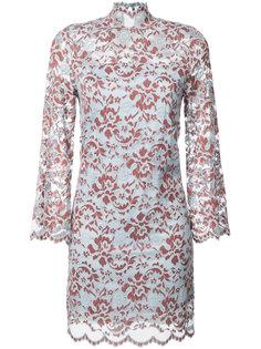 sheer floral pattern dress Ganni