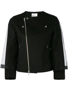 байкерская куртка с сетчатым кейпом Comme Des Garçons Noir Kei Ninomiya