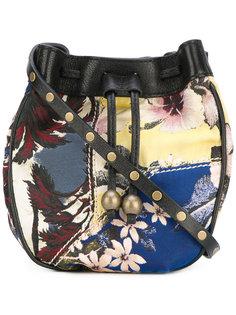 сумка с цветочным рисунком и завязками Philosophy Di Lorenzo Serafini