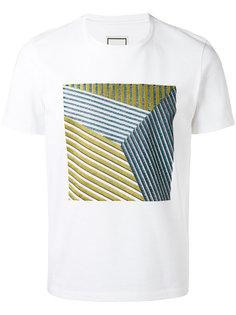 square pattern T-shirt Wooyoungmi