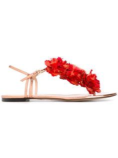сандалии с цветочным украшением Charlotte Olympia