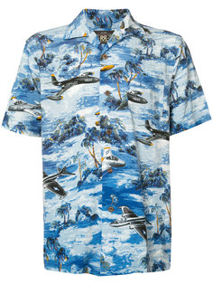 landscape print shortsleeved shirt Rrl