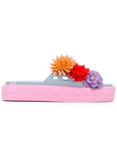 шлепанцы с цветочным украшением Kartell Paula Cademartori