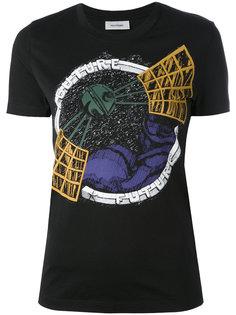 футболка с принтом спутника Courrèges