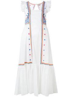 расклешенное платье с вышивкой Temperley London