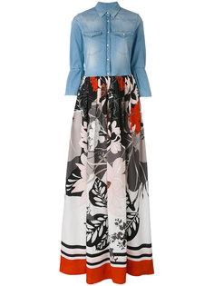 длинное платье с джинсовым топом Sara Roka