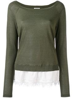 свитер с кружевной отделкой P.A.R.O.S.H.