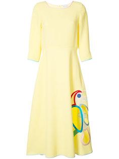 parrot dress Mira Mikati