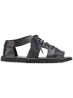сандалии со шнуровкой и вырезами Marsèll