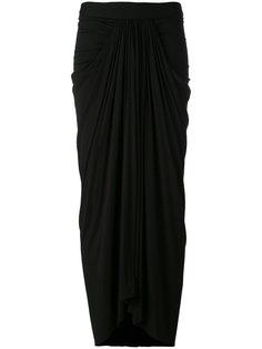 длинная драпированная юбка Rick Owens Lilies