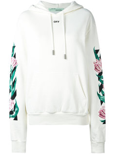 graphic tulip print hoodie Off-White