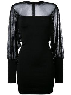 облегающие платье с полупрозрачными вставками Balmain