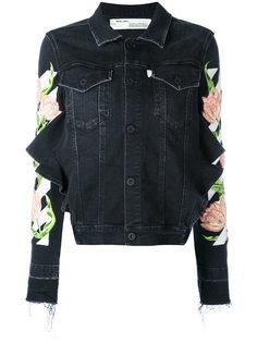 джинсовая куртка с цветочной отделкой  Off-White