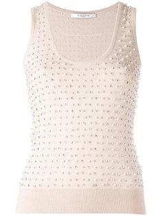 декорированный свитер без рукавов  Givenchy