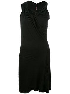 драпированное асимметричное платье  Rick Owens Lilies