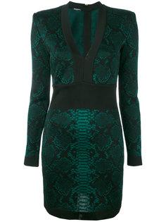 мини-платье с жаккардовым змеиным узором Balmain