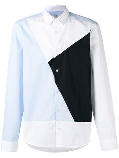 рубашка с геометрическими вставками Kenzo