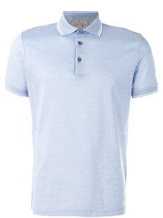 однотонная футболка-поло Canali