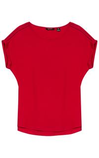 Красная блузка с перфорацией Tom Tailor