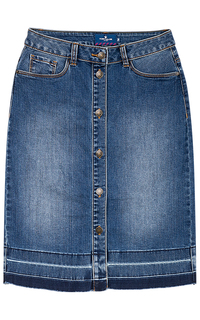 Джинсовая юбка на пуговицах Tom Tailor