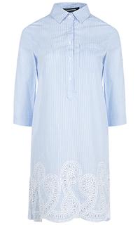 Платье-рубашка с вышивкой La Reine Blanche