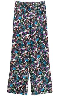 широкие брюки с принтом La Reine Blanche